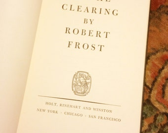 Vintage Book In the Clearing by Robert Frost
