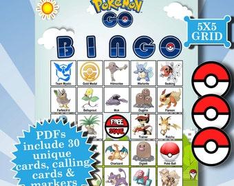 POKEMON GO 5x5 Bingo printable PDFs contain everything you need to play Bingo.