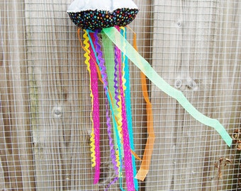 Jellyfish - colourful and cheery fabric decoration