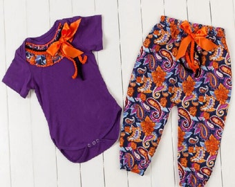 Handmade Boutique Children's Pant Set