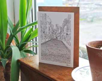 Bold Street Liverpool Greetings Card - Blank inside - Liverpool