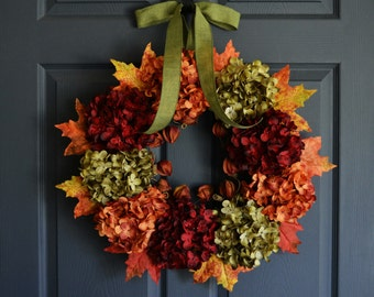 Fall Wreath | Autumn Wreath | Front Door Wreaths | Outdoor Wreath | Fall Wreath for Front Door | Thanksgiving Wreath