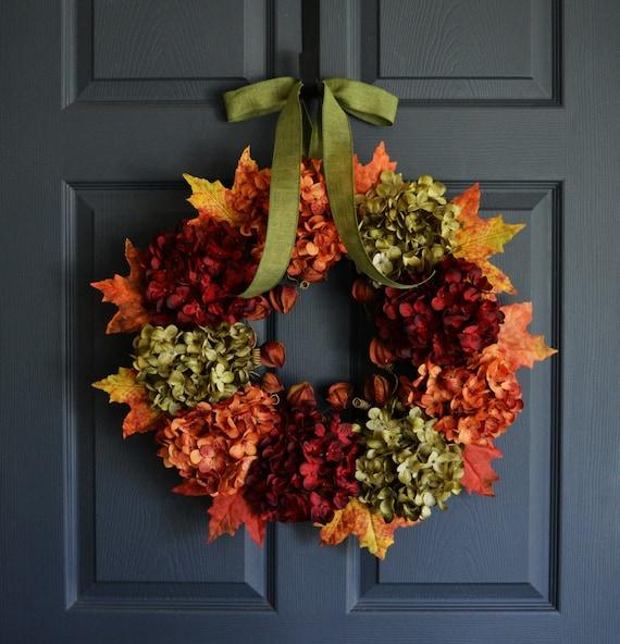 Fall Door Arrangements: Fall Wreath Autumn Wreath Front Door Wreaths Outdoor