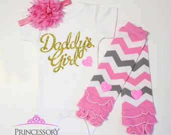 baby girl outfit, baby outfit, baby girl clothes set, baby clothes girl, baby leg warmers, baby gift, baby girl leg warmers, daddy's girl