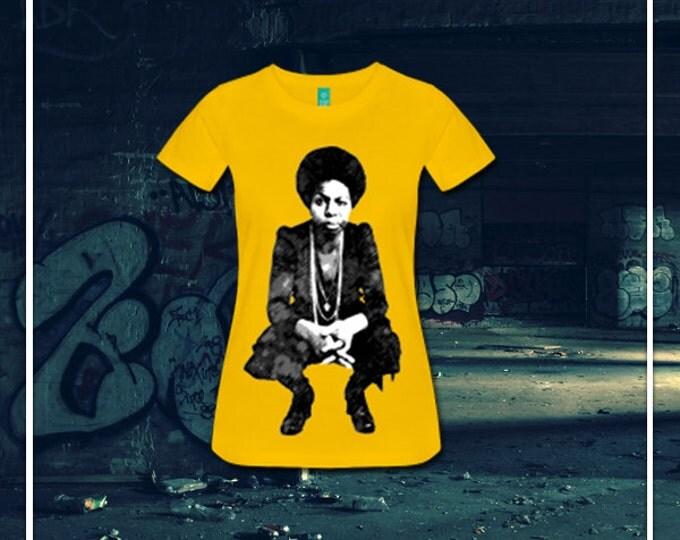 Young Nina Simone Women's Fitted T-Shirt - Yellow