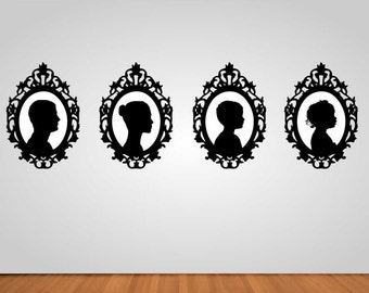 Custom Family Silhouette Portraits
