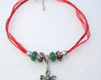 891 - NEW Red Beaded Necklace