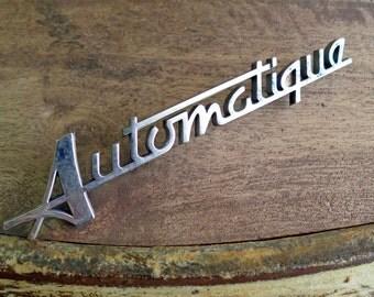 Peugeot AUTOMATIQUE Car Emblem, French Car Name Badge, Peugeot Exterior Body Parts