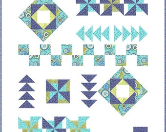 Bohemian Travels Modern Quilt Pattern INSTANT DOWNLOAD