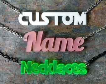 Personalized Name Necklace - Custom Name Necklace - Personalized Jewelry - Bridesmaid gift