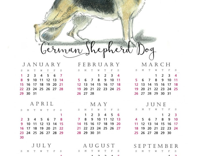 German Shepherd Dog 2017 yearly calendar