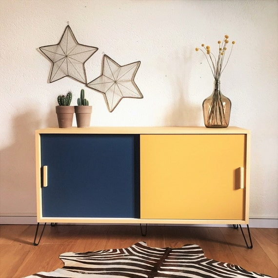 enfilade meuble tv style vintage scandinave buffet bas. Black Bedroom Furniture Sets. Home Design Ideas