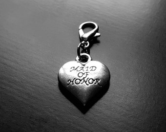Maid of Honor Heart Dangle Charm for Floating Lockets-Gift Ideas for Women