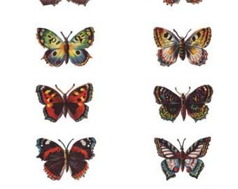 Victorian Scrap Butterfly Digital Download