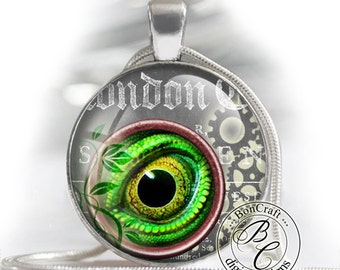 "Steampunk Lizard Eyes - bottle cap images - 1'' circles, 25mm, 30mm, 1.25"", 1.5"" for Jewelry Making, BUY 2 GET 1 FREE"