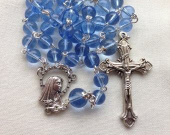 Catholic Rosary // Confirmation Gift // Blue Rosary