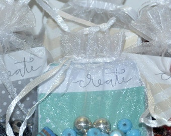Make Your Own Jewelry. DIY Bracelet Kit. Craft Kit. Turquoise Party Favors. Turquoise Bracelet. Birthday Favors. Bracelet Kit. Get Well Gift