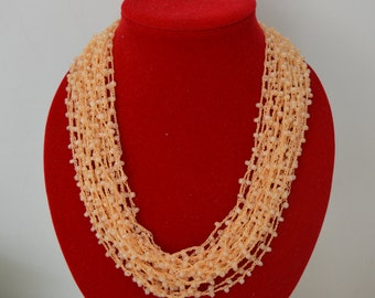 Orange delica beads necklace