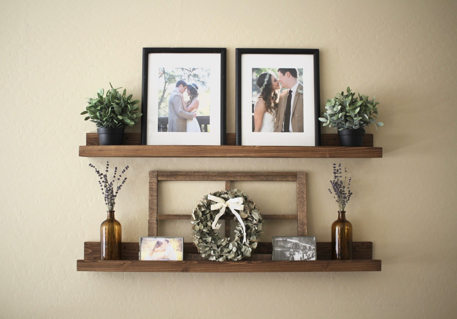 rustic wooden picture ledge shelf ledge shelf ledge shelves. Black Bedroom Furniture Sets. Home Design Ideas