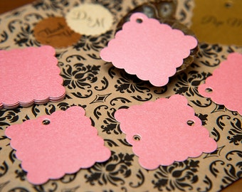 "100 Blush Pink Pearlised 1.5"" Square Luxury Gift Tags, Blank Tag, Wishing Tree Tag, Wedding favour tags, Jewelry Tag, wedding favor 1.5 inch"