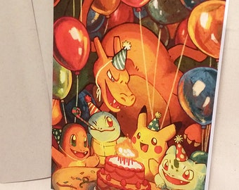 Pokémon Birthday Card