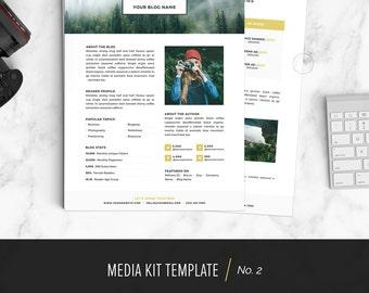 Media Kit Template, Media Kit Design for Bloggers (Instant Download) | No.2