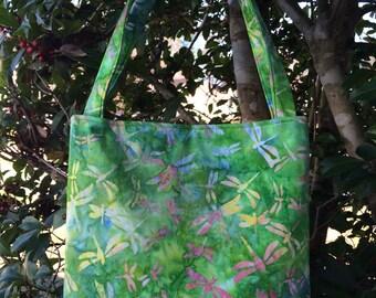 Dragonfly Fabric Purse, Shoulder Bag, Tote Bag, Gifts, Diaper Bag, Book Bag, Lunch Bag