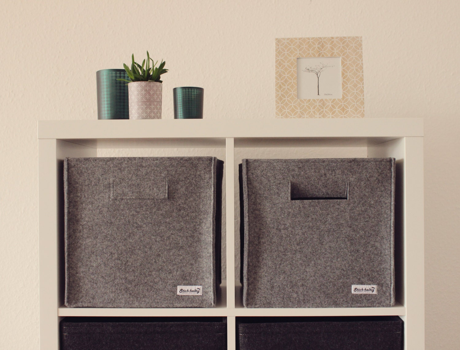 regalkorb aus filz aufbewahrung filzbox filzkorb regalkorb. Black Bedroom Furniture Sets. Home Design Ideas