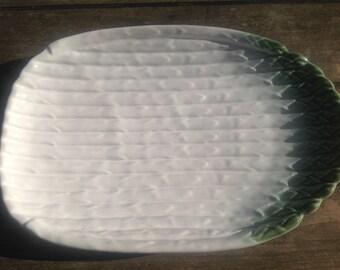 nice white earthenware asparagus platter