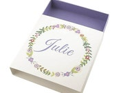 Purple Bridesmaid Gift Box Maid of Honor Gift Box Personalized Gift Box Custom Gift Boxes