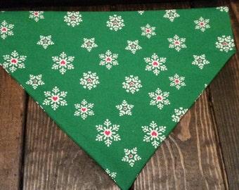 Christmas Bandana | Dog Bandana | Snowflakes
