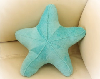 Starfish Shaped Pillow, Toy Pillow, 3D Pillow, Nautical Decor, Beach House Decor, Aqua, Pink pillow