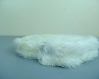 "68"" white rabbit trim costume renaissance fair"