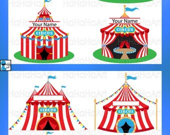 Split Circus Tent - Cutting Files Svg Png Jpg Eps Digital Graphic Design Instant Download Commercial Use Cut Carnival Festival (00630c)