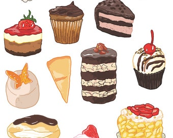 Cake and Patisserie Sticker Set