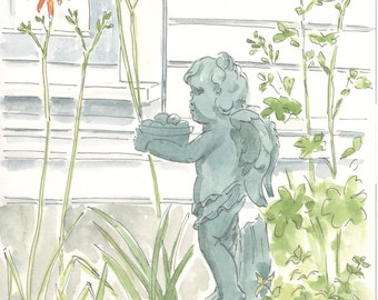 Cherub in the garden