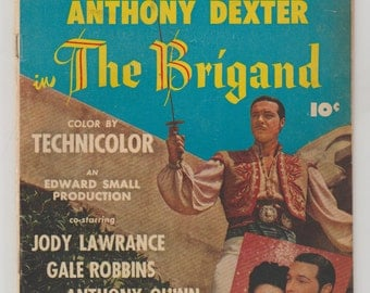 Fawcett Movie Comic: The Brigand; Vol 1, 18, Golden Age Comic Book.  VG. August 1952.  Fawcett Comics