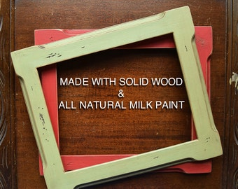 16x20 Picture Frame Distressed Solid Wood Rustic Shabby Chic Eco Friendly 16x20 Frame (multiple Color Choices)