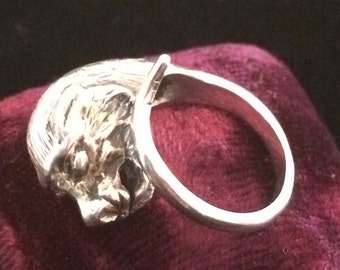 Vintage Sterling Lion's Head Ring