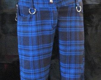 Adjusted Tartan Blue Pants