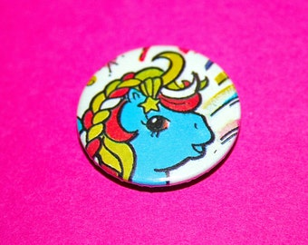 Vintage Style My Little Pony Unicorn Button Pin Badge