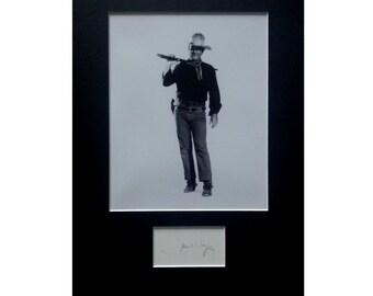 JOHN WAYNE AUTOGRAPH photo display