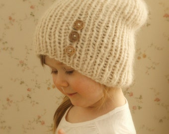 KNITTING PATTERN basic rib hat Dale (baby, toddler, child, woman, man sizes)