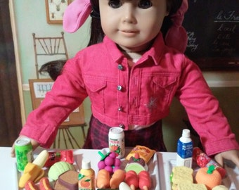 School Lunch Erasers for American Girl Doll Accessories: School Supplies  Food Hamburgers Sandwiches Hot Dogs