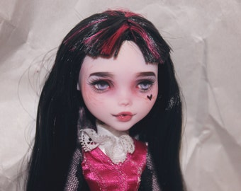 Monster High Draculaura OOAK Custom Doll Repaint