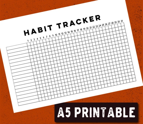 Nerdy image in bullet journal habit tracker printable