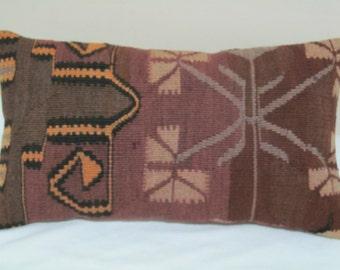 "turkish kilim pillow cover11,6""x20""kilim pillow-vintage pillow"