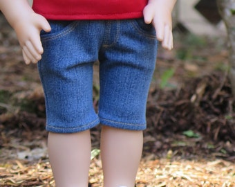 18 Inch Doll Denim Shorts - Knee-length Medium Denim Shorts - 18 Inch Doll Shorts - Liberty Jane Shorts - Modern Doll Clothes