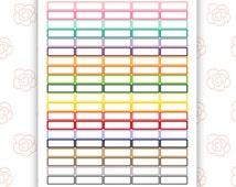 Planner Label Stickers / Planner Printable / Printable Stickers / Erin Condren / ECLP / Instant Download