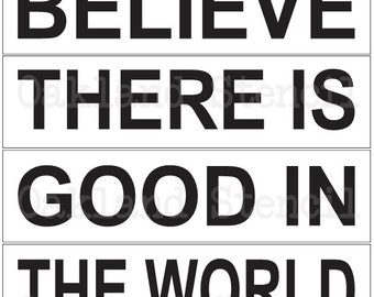 Inspirational STENCIL**Believe there is good**Set #1 of 4 separate stencils** for Painting Signs Pallets Airbrush Canvas Crafts Wall Decor